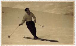 Gualtiero Petrucci sciatore abetonese vincitore della prima gara italiana di sci alpino a Roccaraso nel 1929